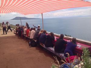 Lunch with a view of Lago Titicaca