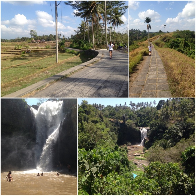 Ubud running & waterfall