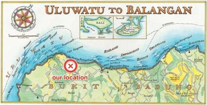 Map of south bali beaches