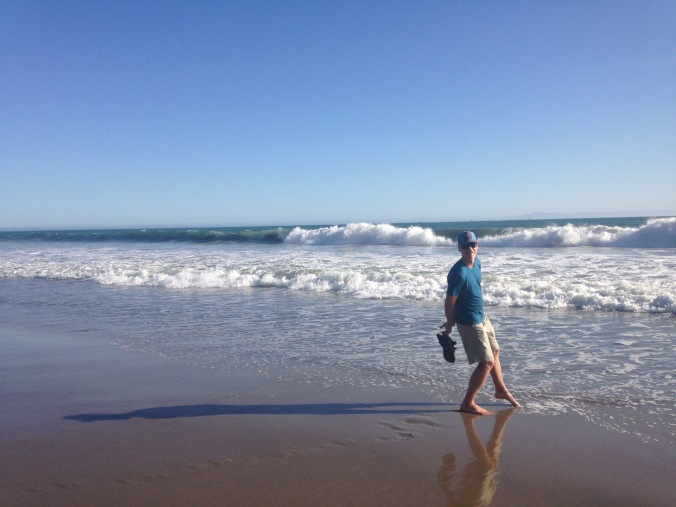 Dipping my toes in the waters of Santa Barbara in March